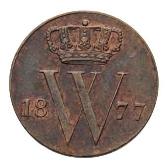 1/2 cent 1877 Willem III Pr+