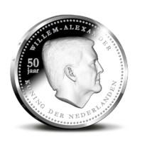 5 Gulden Curaçao en Sint Maarten Koning Willem-Alexander 2017 Zilver Proof