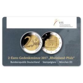 """Duitsland 2 Euro """"Rheinland-Pfalz"""" 2017 Coincard """"D"""""""