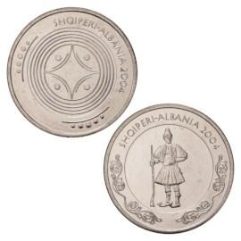 Albanië 2 x 50 Leke 2004