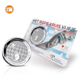 Rode Kruis Vijfje 2017 UNC-kwaliteit in coincard