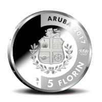Aruba 5 Florin ´Prikichi´ Zilver Proof