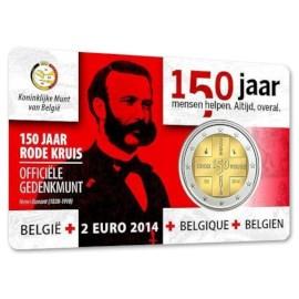 "België 2 Euro ""Rode Kruis"" 2014 Coincard NL"