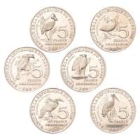 Burundi 6 x 5 Francs 2014
