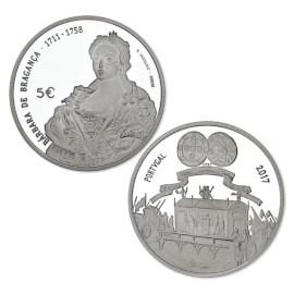 "Portugal 5 Euro ""Maria Bárbara"" 2017"