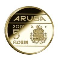 Aruba 5 Florin 2017 - 60 jaar Rode Kruis