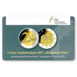 """Duitsland 2 Euro """"Rheinland-Pfalz"""" 2017 Coincard """"F"""""""