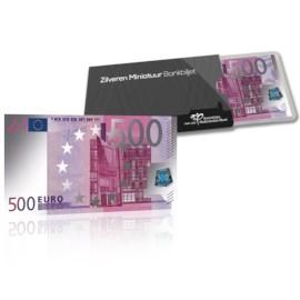 Silver Miniature Banknote 500 euro