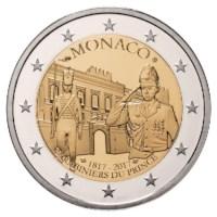 """Monaco 2 Euro """"Carabiniers"""" 2017 Proof"""