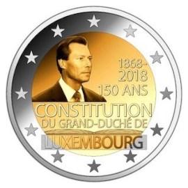 """Luxemburg 2 Euro """"Grondwet"""" 2018"""