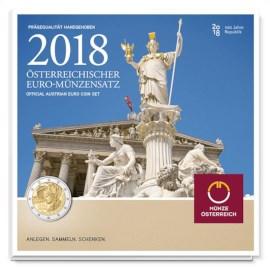 """Oostenrijk BU Set 2018 met 2 Euro """"Republiek"""""""