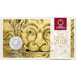 """Oostenrijk 5 Euro """"Leeuw"""" 2018 Zilver BU"""