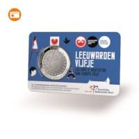 Leeuwarden 5 euro coin 2018 BU-quality in coincard
