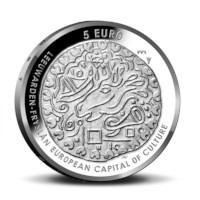 Leeuwarden 5 euro coin 2018 UNC-quality in coincard