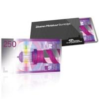 Zilveren Miniatuur Bankbiljet 250 Gulden Vuurtoren