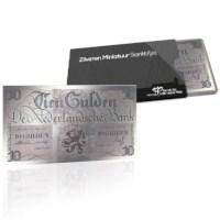 Zilveren Miniatuur Bankbiljet 10 Gulden 1945 Lieftinck