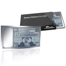 Silver Miniature Banknote 10 Guilders 1924 Zeeland Girl