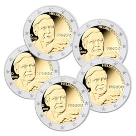 """Duitsland 2 Euro Set """"Helmut Schmidt"""" 2018"""