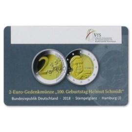 "Duitsland 2 Euro ""Helmut Schmidt"" 2018 Coincard ""J"""