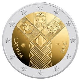 """Letland 2 Euro """"Baltische Staten"""" 2018"""