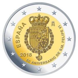 """Spanje 2 Euro """"Felipe"""" 2018"""