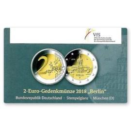 """Duitsland 2 Euro """"Berlin"""" 2018 Coincard """"D"""""""