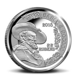 Pièce de 10 euros Belgique 2018 « Rubens – Baroque et Rococo » Belle Épreuve en argent dans un coffret