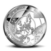 10 euromunt België 2018 'Rubens – Barok en Rococo' Zilver Proof in cassette