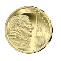 25 euromunt België 2018 'Hugo Claus' Goud Proof in cassette