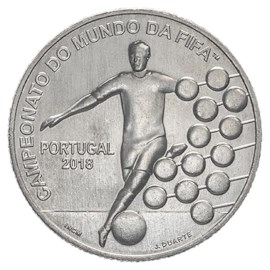 "Portugal 2,5 Euro ""WK Voetbal"" 2018"