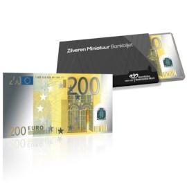 Silver Miniature Banknote 200 euro