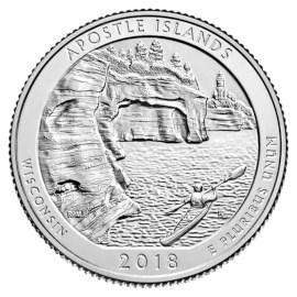 """US Quarter """"Apostle Islands"""" 2018"""