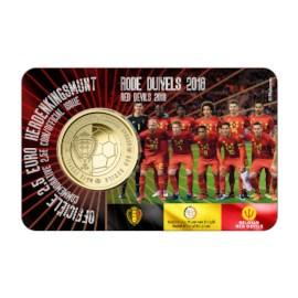 "België 2,5 Euro ""Rode Duivels"" 2018 NL Coincard"