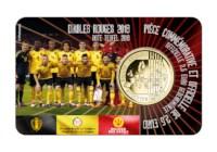 2,5 euromunt België 2018 'Rode Duivels'  BU in coincard NL