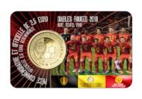 2,5 euromunt België 2018 'Rode Duivels' BU in coincard FR