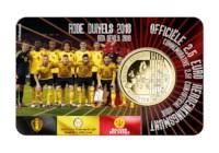 Pièce de 2,5 euros Belgique 2018 « Diables rouges » BU dans une coincard FR