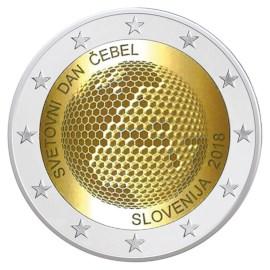"Slovenië 2 Euro ""Wereldbijendag"" 2018 Proof"