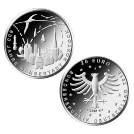 "Duitsland 20 Euro ""Rostock"" 2018"