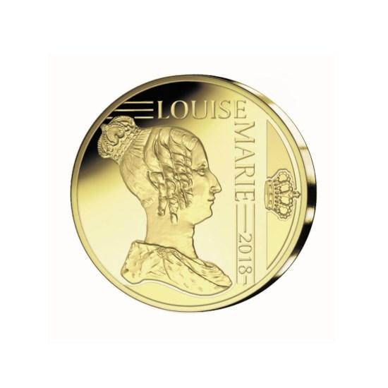 Piècette d'or de 12½ euros Belgique 2018 ' consacrée à Louise-Marie d'Orléans'