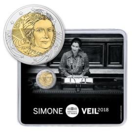 "Frankrijk 2 Euro ""Simone Veil"" 2018 BU Coincard"