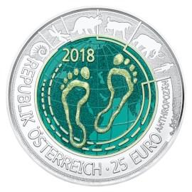 """Austria 25 Euro """"Antropoceen"""" 2018"""