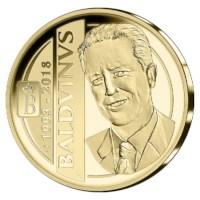 100 euromunt België 2018 ´Koning Boudewijn´ Goud Proof in etui