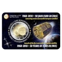Pièce de 2 euros Belgique 2018 « ESRO-2B » BU dans une coincard NL