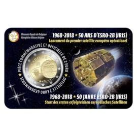 Pièce de 2 euros Belgique 2018 « ESRO-2B » BU dans une coincard FR