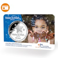 30 years Make-A-Wish Nederland Medal in coincard