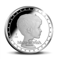 30 jaar Make-A-Wish Nederland Penning in coincard