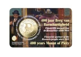 Pièce de 2,5 euros Belgique 2018 « 400 ans le Mont-de-Piété » BU dans une coincard NL