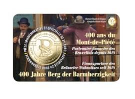 Pièce de 2,5 euros Belgique 2018 « 400 ans du Mont-de-Piété » BU dans une coincard - FR