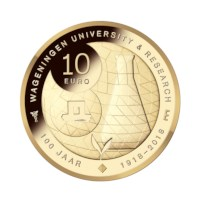 Wageningen University 10 euro coin 2018 Gold Proof