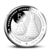 Wageningen Universiteit Vijfje 2018 Zilver Proof